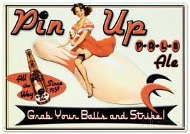 Pin Up ad for bowling