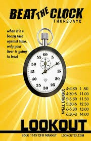 Beat the clock stop watch graphic