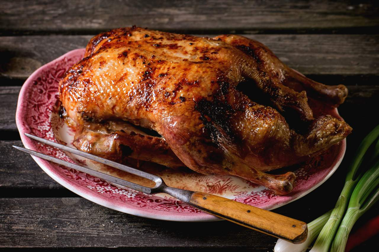 basting chicken