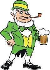 cartoon of Irish man having a beer